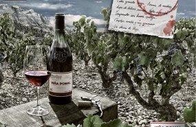 Cartel de la firma Viña Pomal
