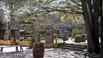 El patio, un lugar pefecto para probar la cocina y catar los cavas y vinos de esta bodega