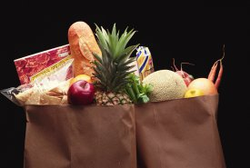 Bolsa de compra de alimentos