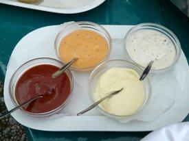 Cuatro salsas diferentes