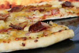 Origen pizza hawaiana