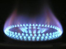 Una cocina de gas