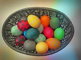 Una muestra de huevos de pascua