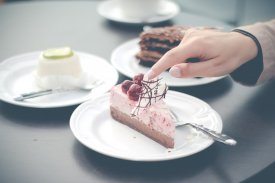 Una tarta de chocolate