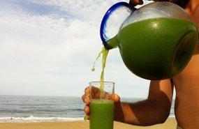 Un apetecible zumo de verduras