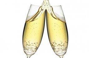 Dos copas de champagne
