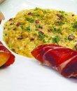 Risotto de pasta con hongos y jamón