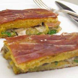 Sandwich de foie gras y hongos