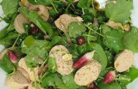 Ensalada de foie gras y berros