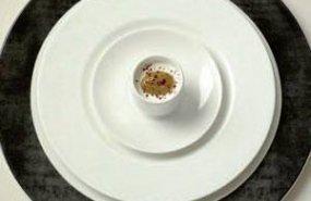 Cafe amargo con sabayon al ron